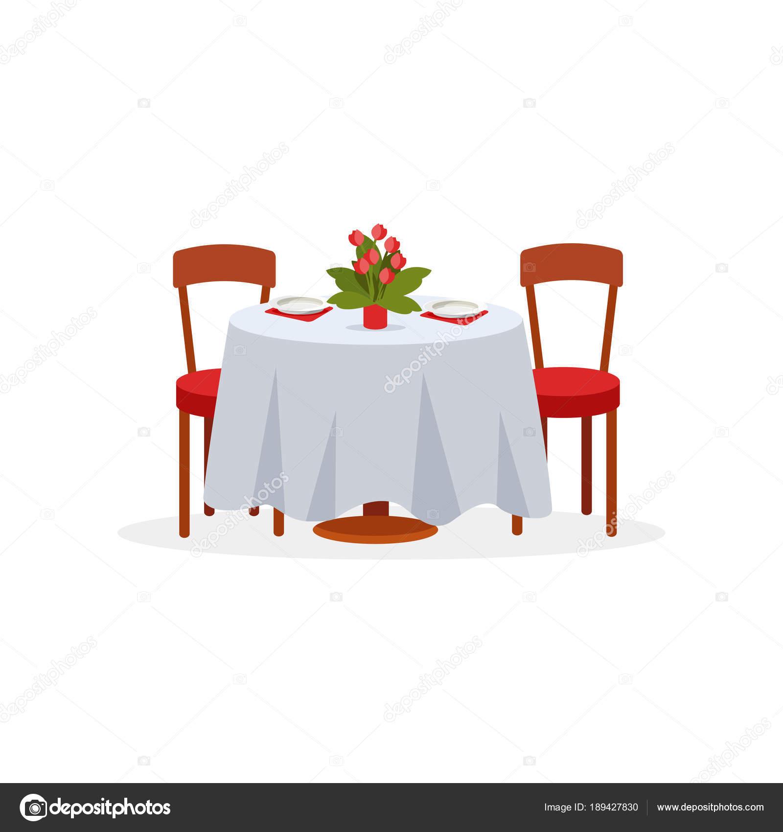 Eettafel Twee Personen.Eettafel En Stoelen Voor Twee Personen Een Romantisch Diner Voor