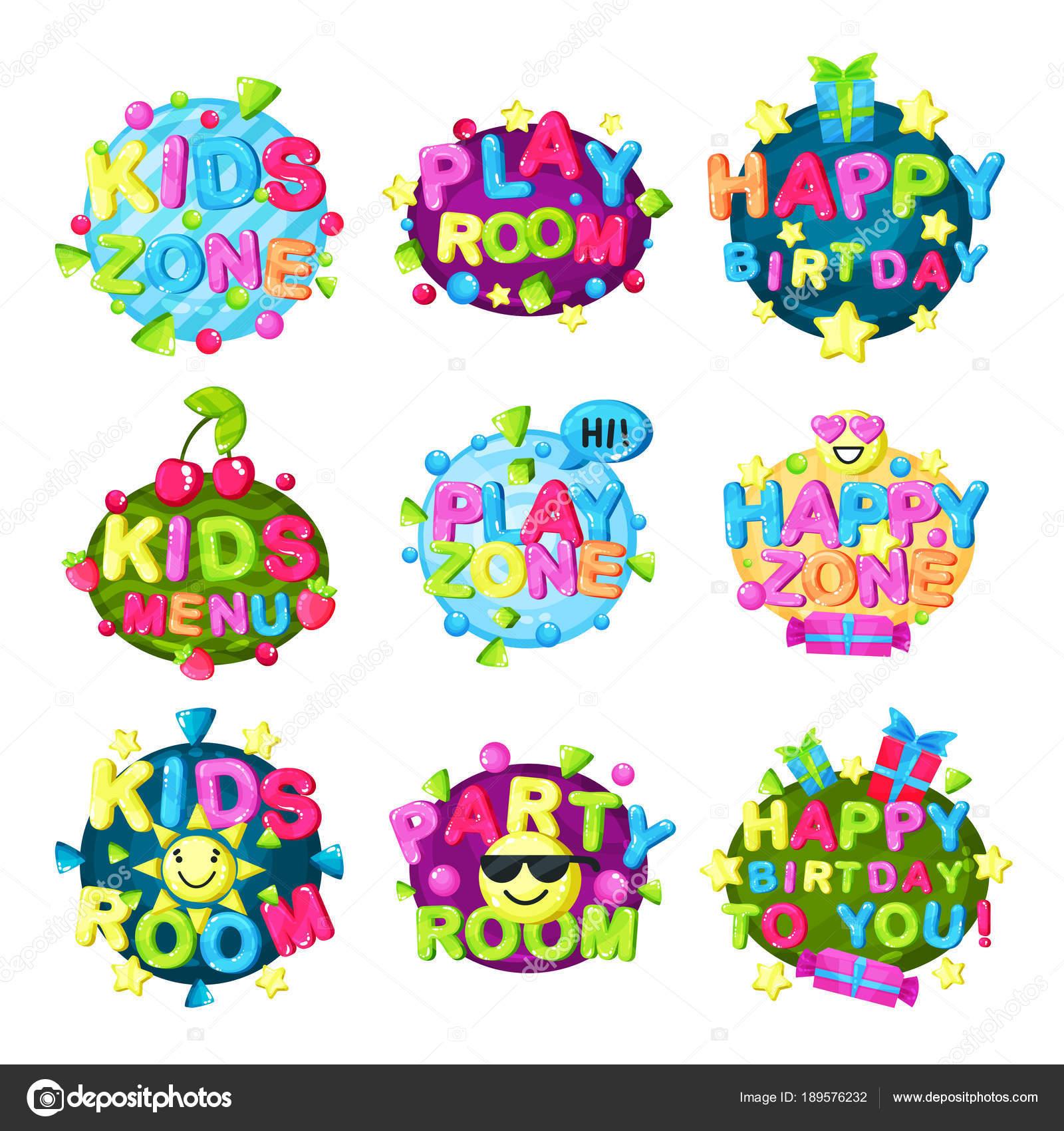 Logotipos Infantiles Para Ninos Ninos Zona Logo Conjunto