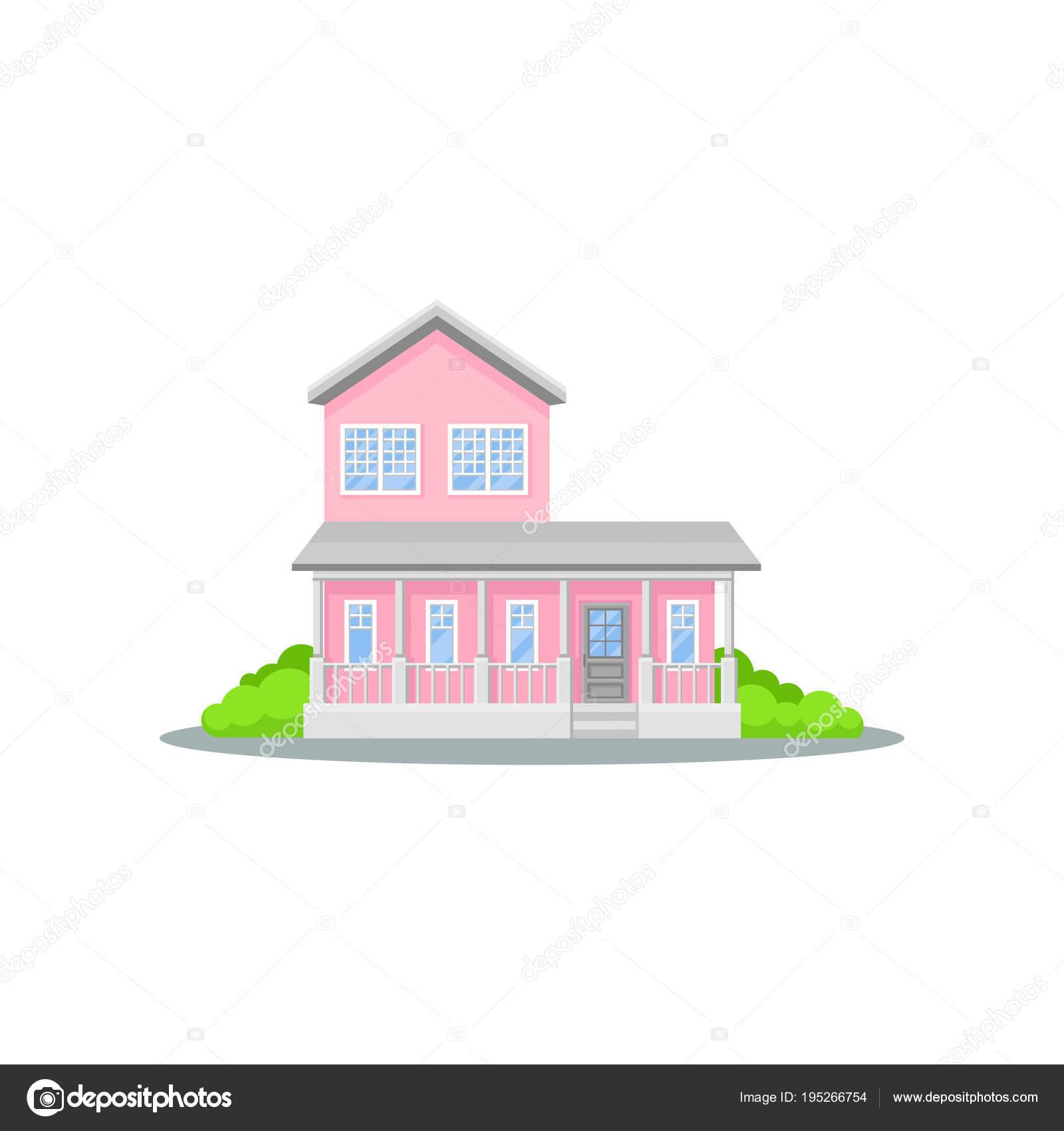 Dibujos La Casa Rosada Encantadora Casa Rosada De Dos