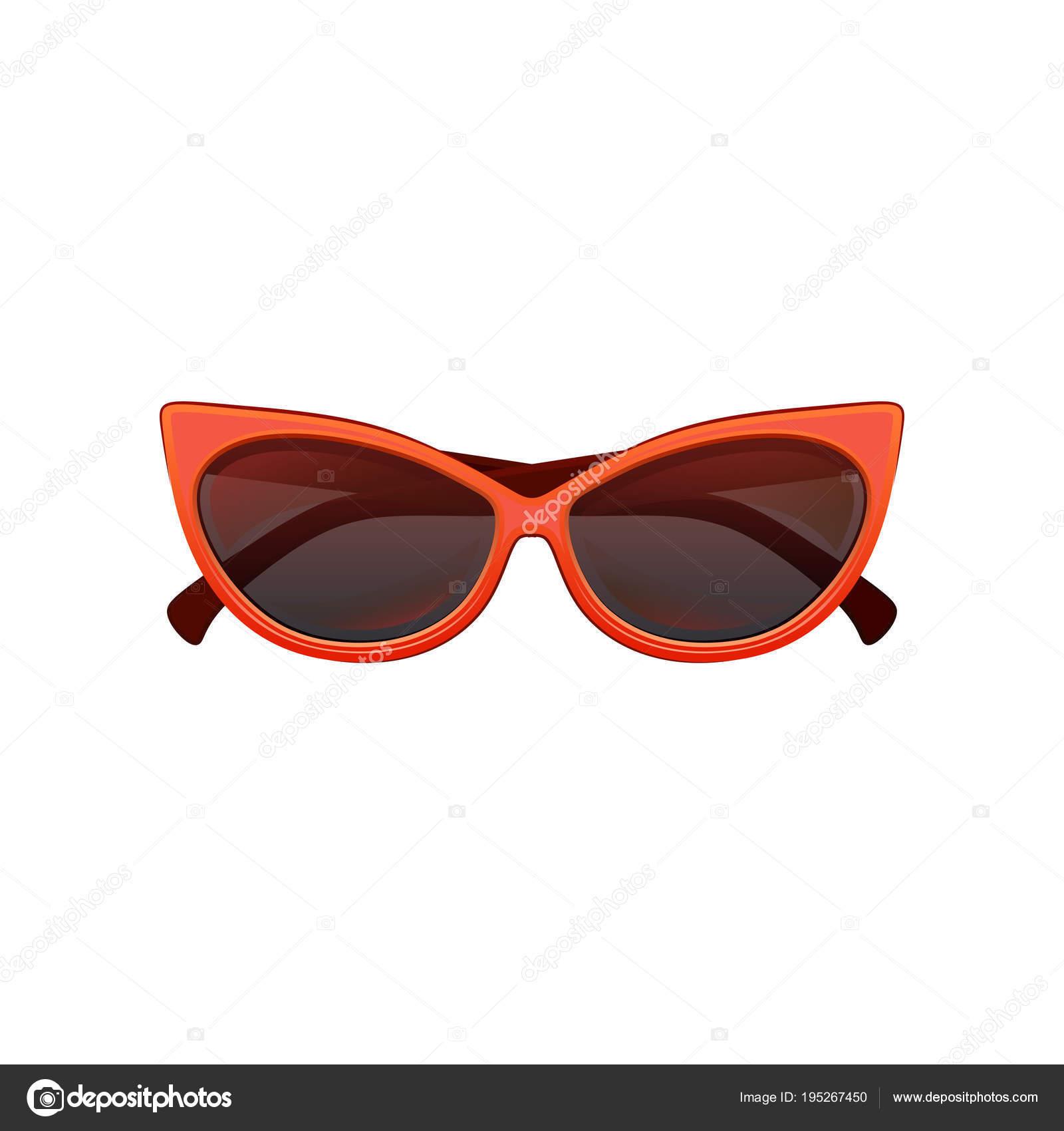 Glamour gato olhos óculos de sol com lentes matizadas pretas e moldura de  plástico vermelha brilhante 1be1c13738