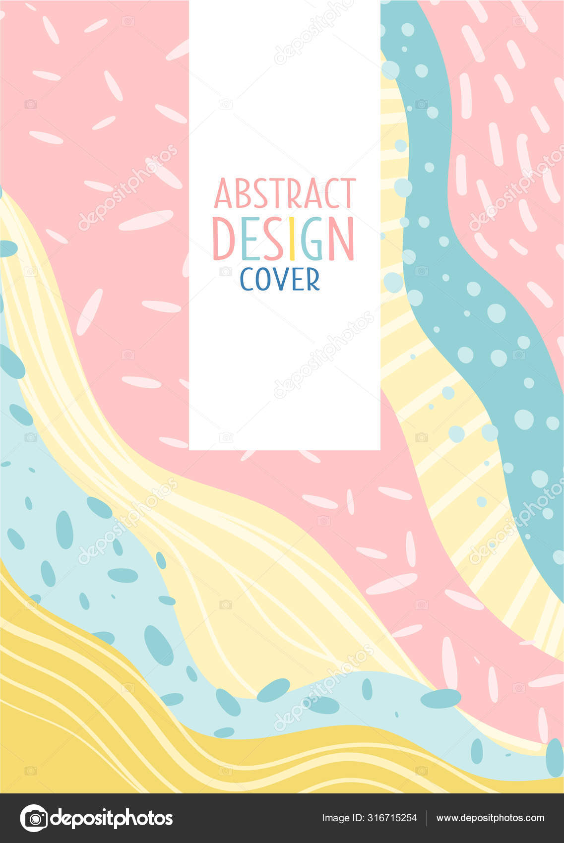 Cute Pastel Design In Pink Yellow And Turquoise Colors Vector Illustration Stock Vector C Happypictures 316715254