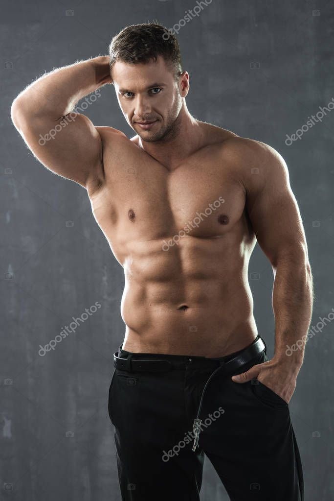 Handsome Athletic Man In Spa Towel Stock Photo - Image of
