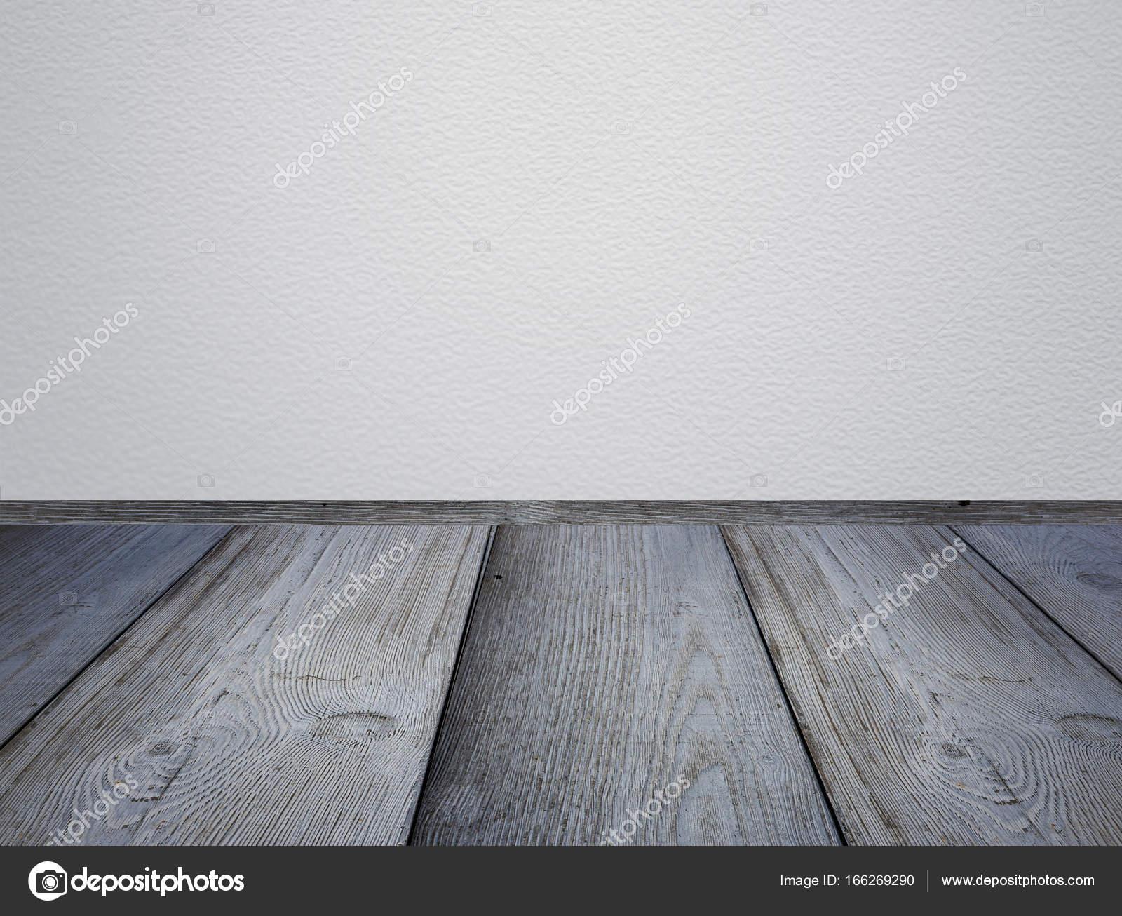 Lichtgrijze Houten Vloer : Perspectief houten vloeren en grijze muren lege ruimte
