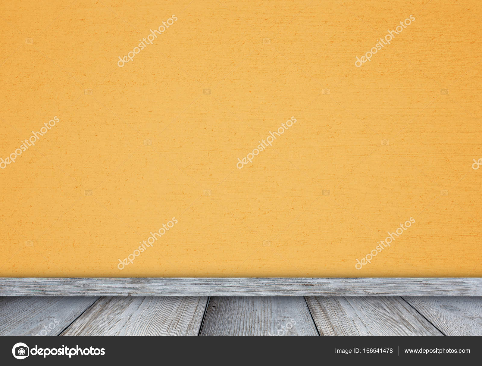 Empty room with colored wall and wooden floor, space for ideas of ...