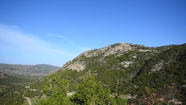 Tradiční panoramatický pohled přírody Řecka, letecký pohled na hory krajina