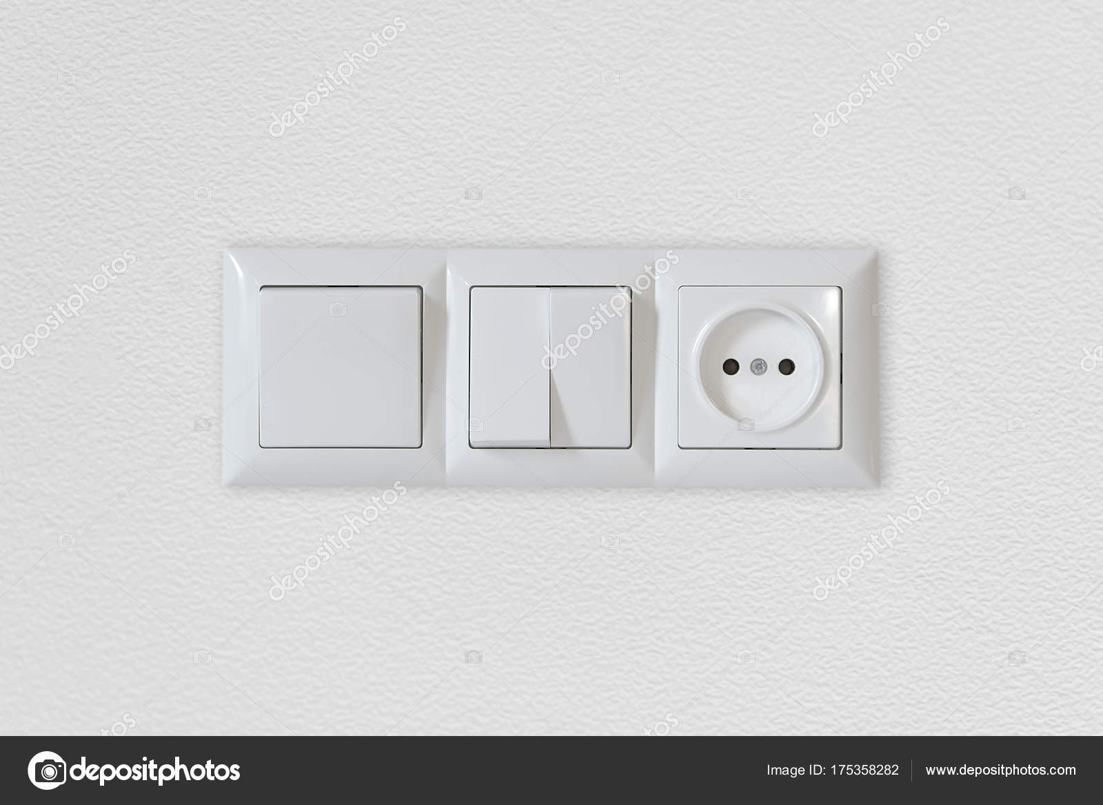 Electric Light Switch Socket Empty Wall Electrical Power Socket Plug ...