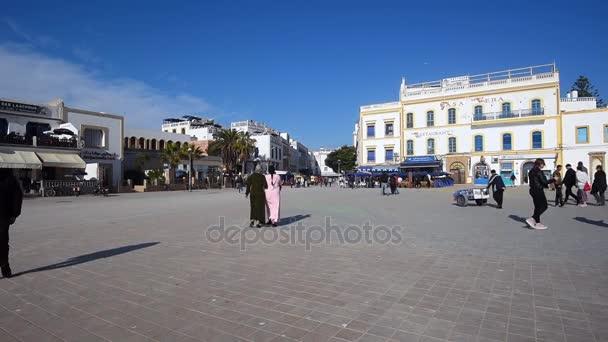 Pohled z Moulay Hassan náměstí v Essaouira na Leden 07. 2018 v Maroku