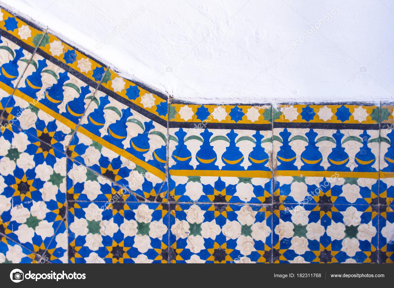 Piastrelle marocchine con modelli tradizionali arabi modelli
