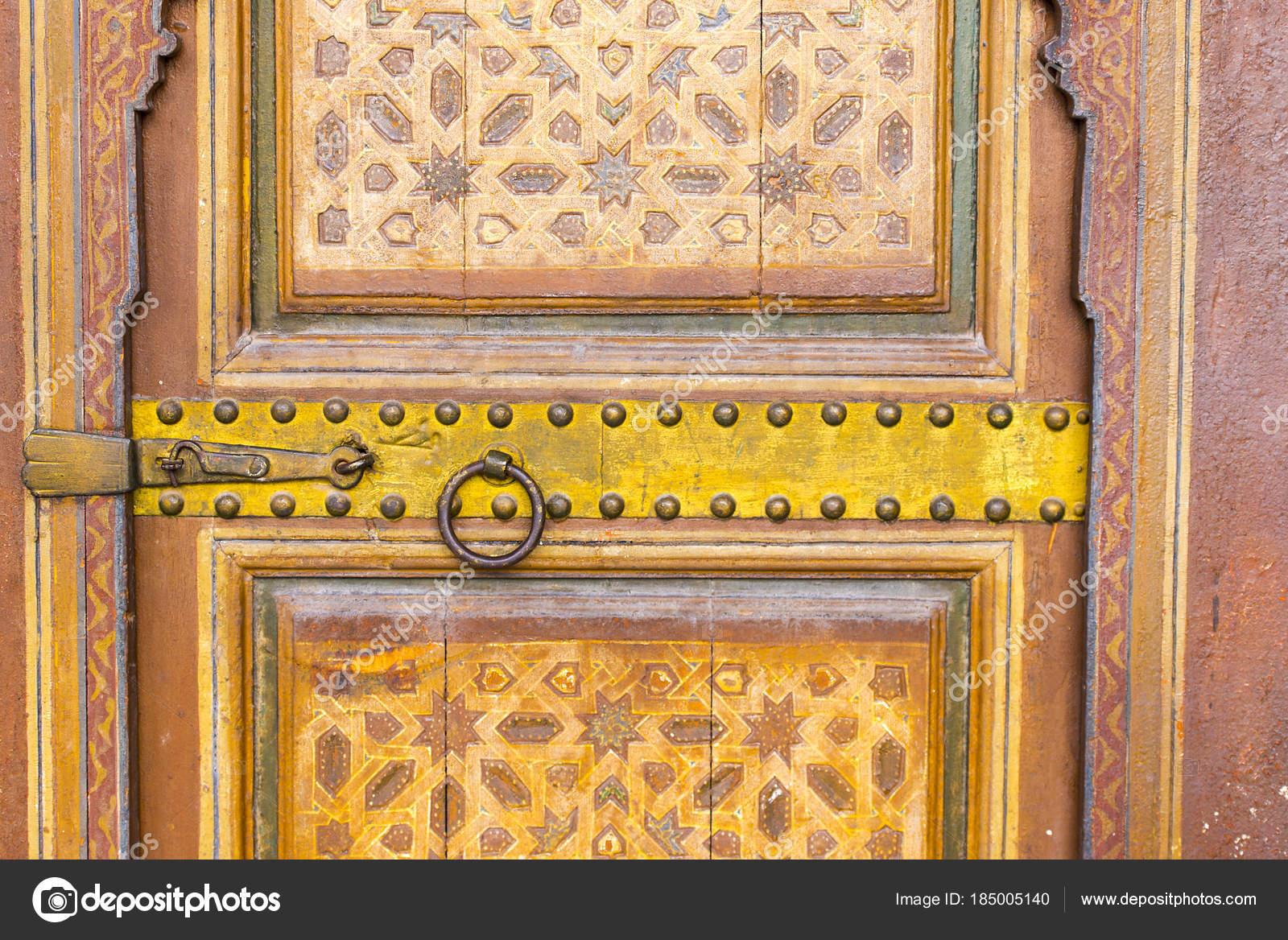 Moroccan Traditional Door Old Medina District — Stock Photo ...