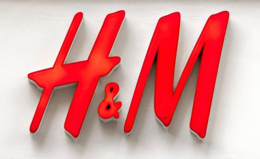 STOCKHOLM - JAN 02: H&M Logotype in front of Entrance to the Shopping Mall in Stockholm on January 02. 2020 in Sweden