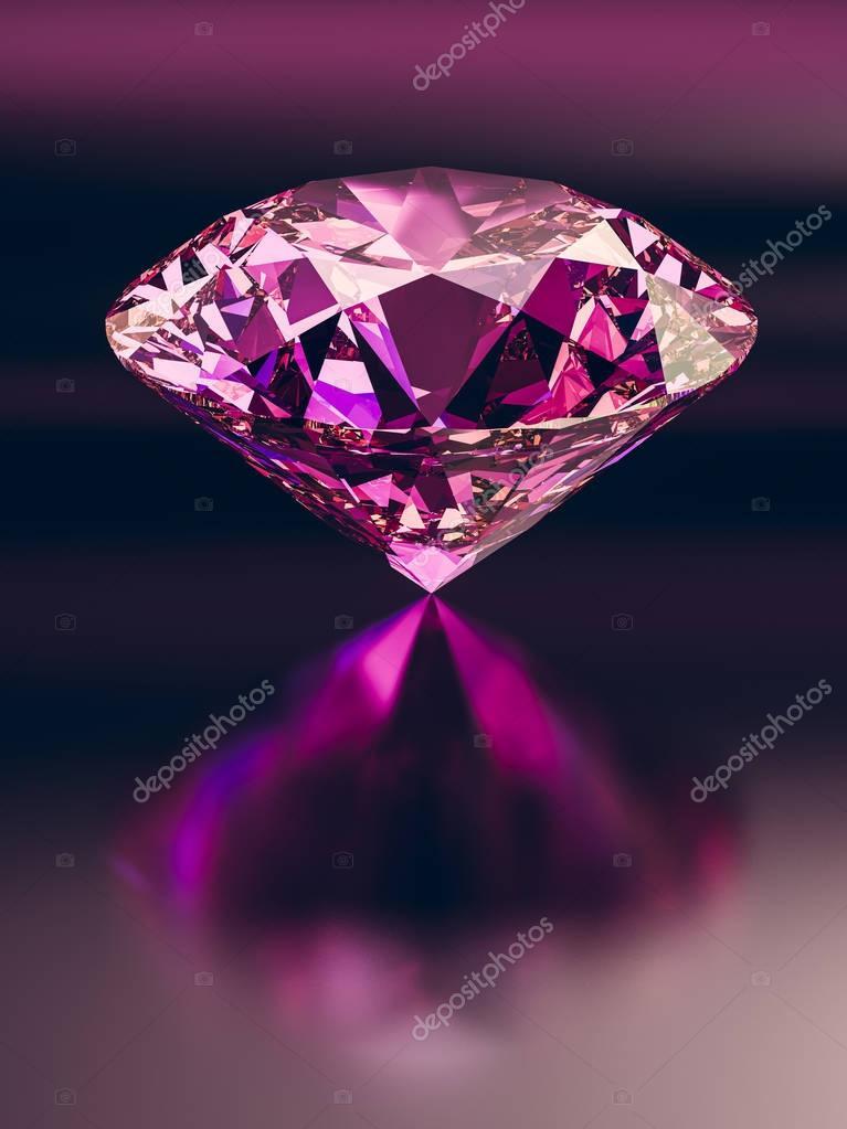Fondo Diamante Rosa Diamante Rosa Sobre Fondo Oscuro