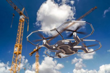 Drones flying with a 4k cameraDrones flying with a 4k camera.