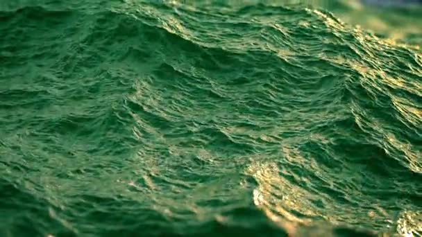 Close up of  disturbed green ocean water surface