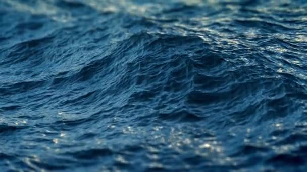 Close up of  disturbed blue ocean water surface