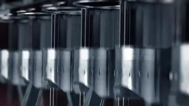 Egy zár-megjelöl a lassú mozgás, dugattyúk és szelepek motor