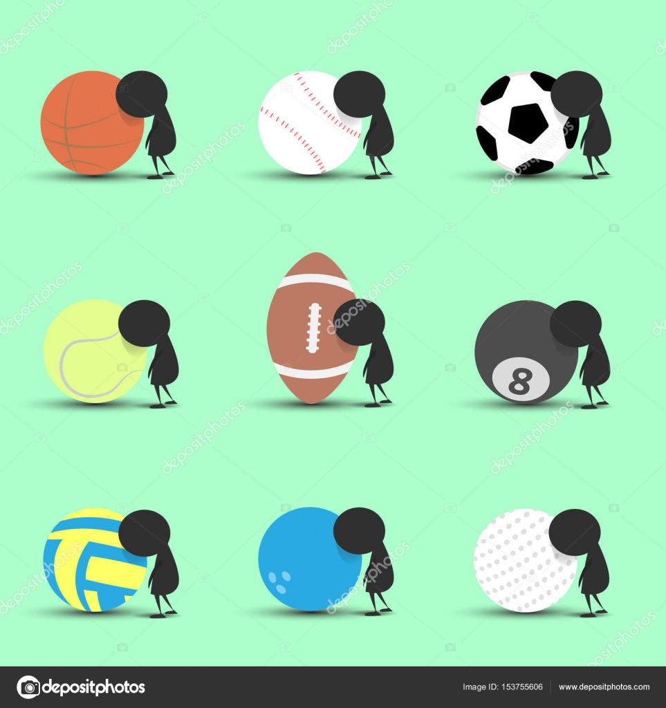 Black Man Character Cartoon Sad And Recline To Sports Ball With Green Background Flat Graphic Sports Cartoon Sports Balls Vector Illustration Stock Vector C Suncomecan 153755606