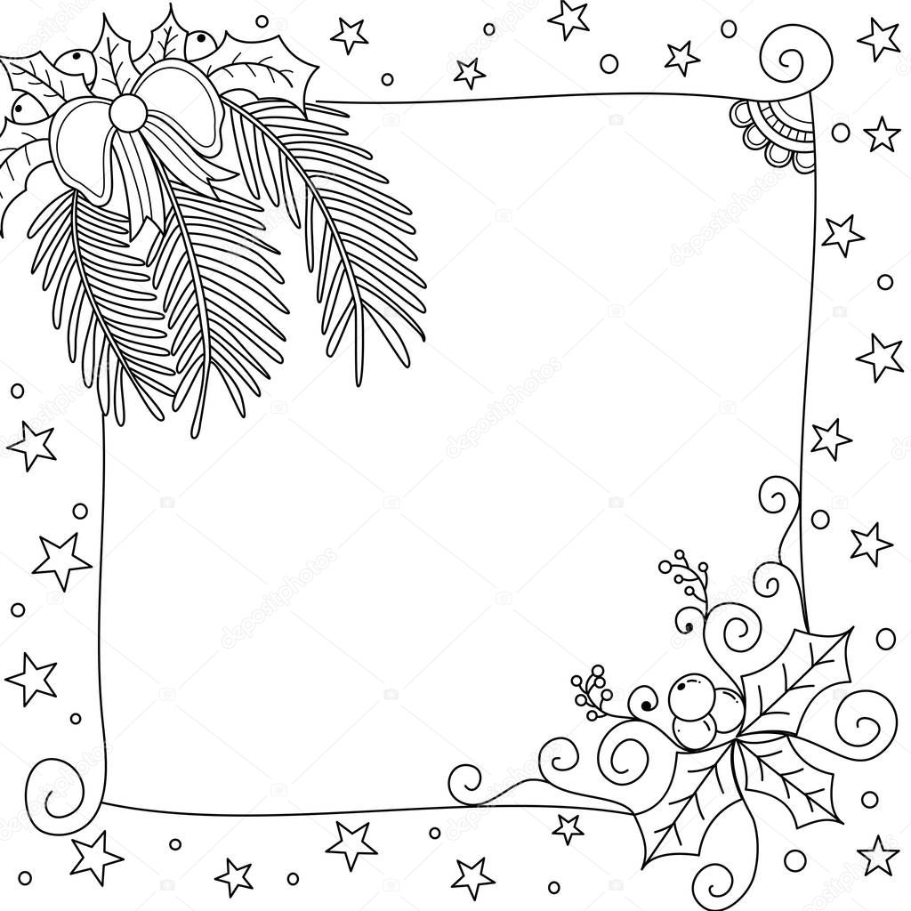 wide frame coloring pages christmas - photo#26