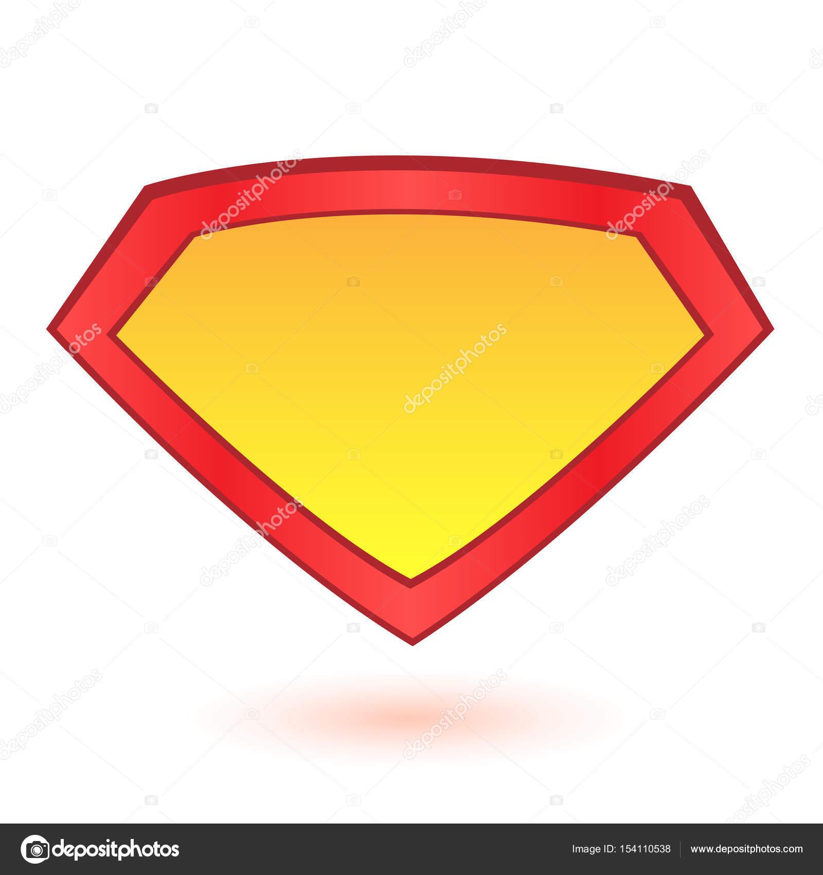 Superhero logo template at bright blue, pop art background. Vector ...