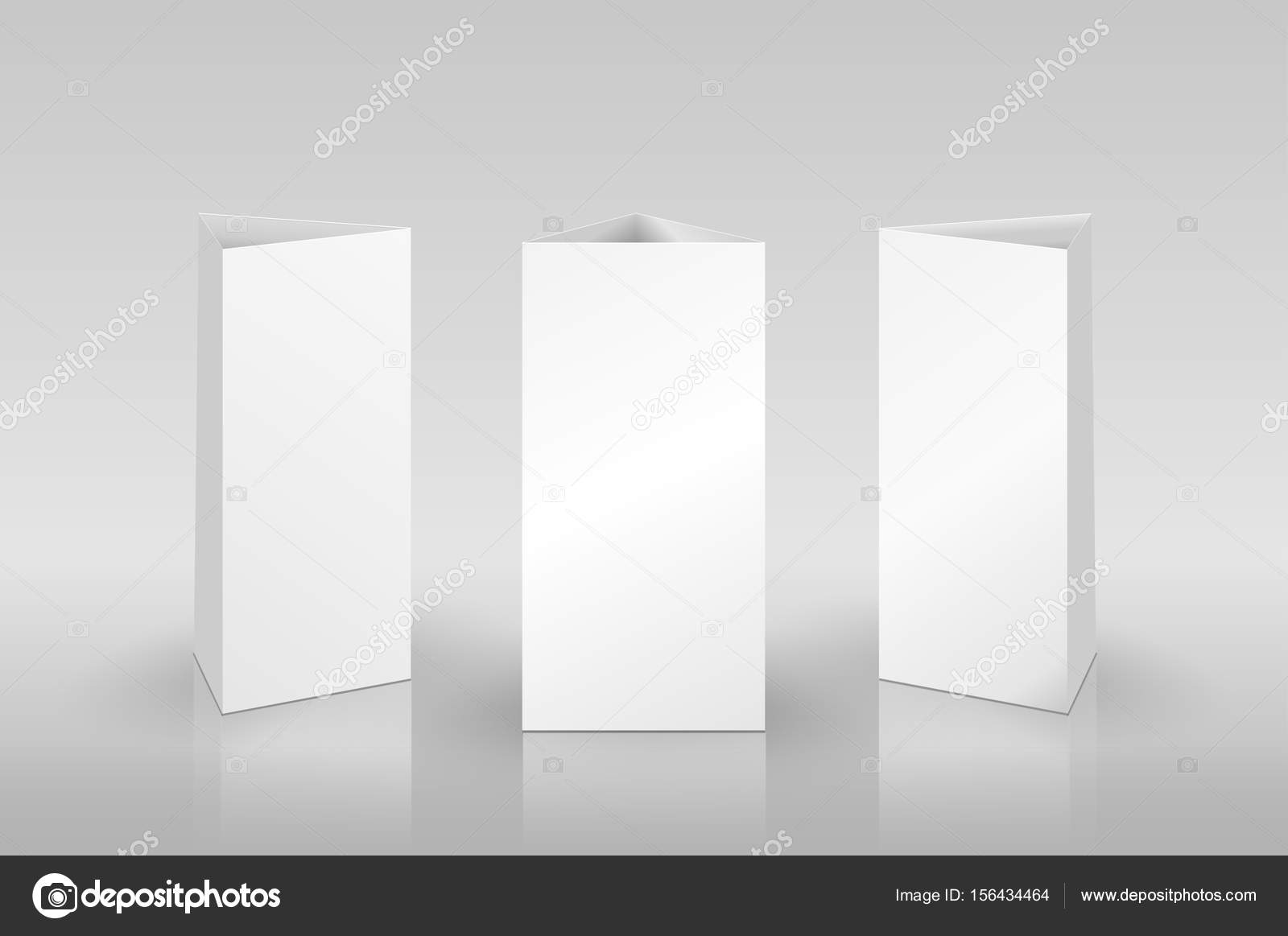 blank table tent isolated on grey background paper vertical cards