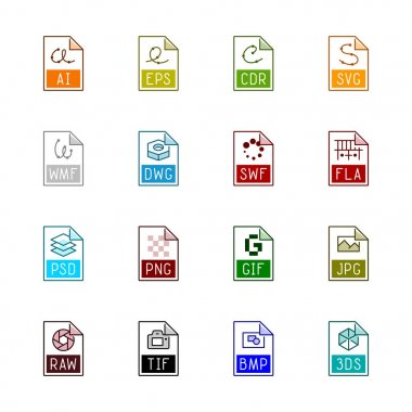 File type icons: Graphics - Linne Color series