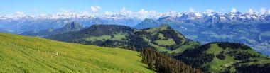Panoramic view of Alps from the top of Rigi Kulm, Switzerland