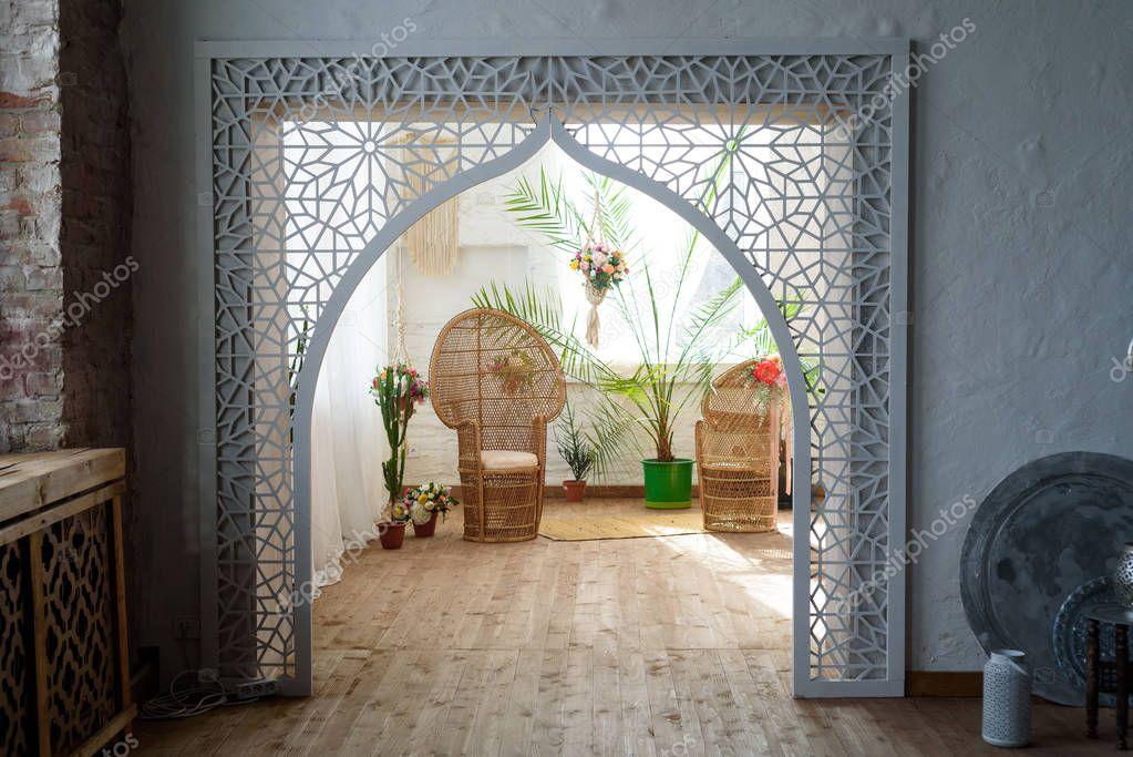 Interni del salotto in stile marocchino orientale foto - Immagini del cardellino orientale ...