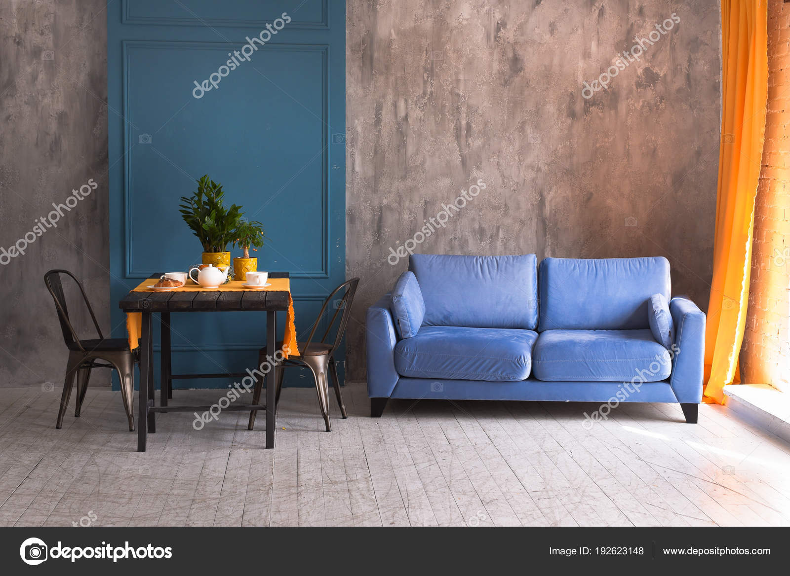 Fine Interior Living Room Loft Style Sofa Table Stock Photo Inzonedesignstudio Interior Chair Design Inzonedesignstudiocom