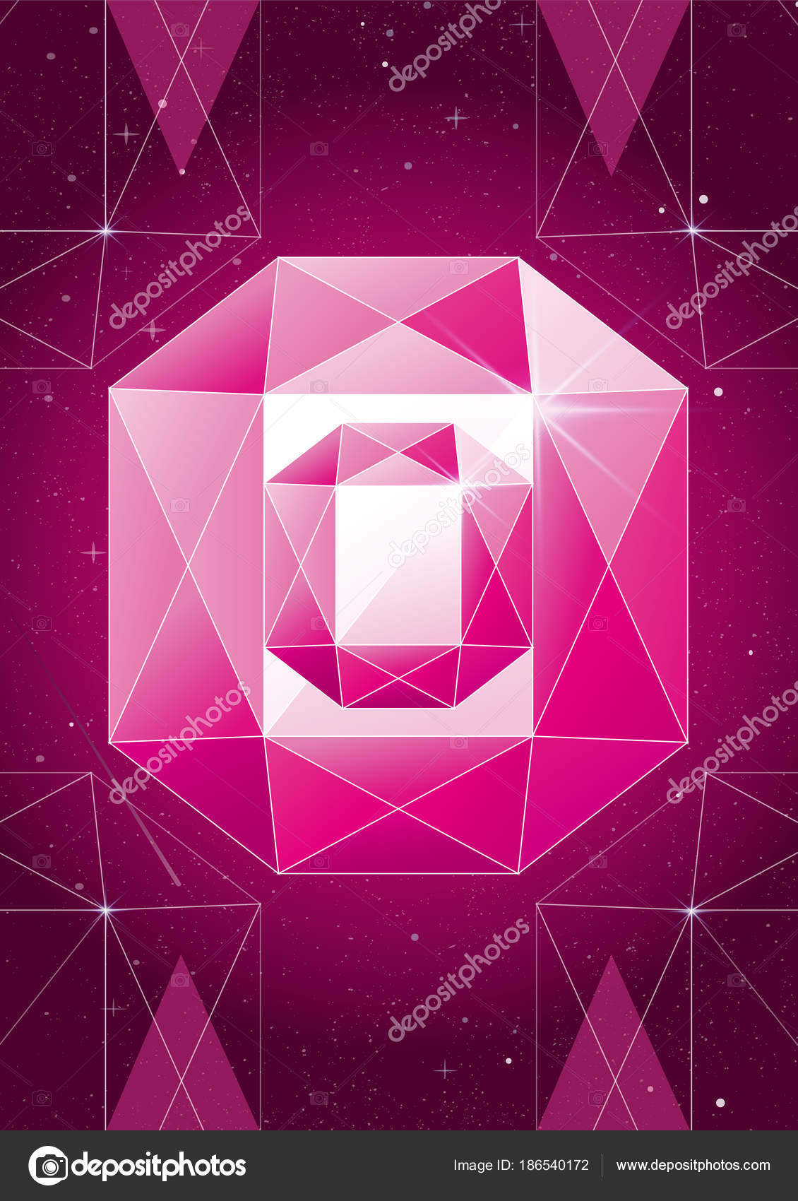 heart geometric mosaic background stock abstract pattern colorful illustration vector polygon broken diamond depositphotos valentine