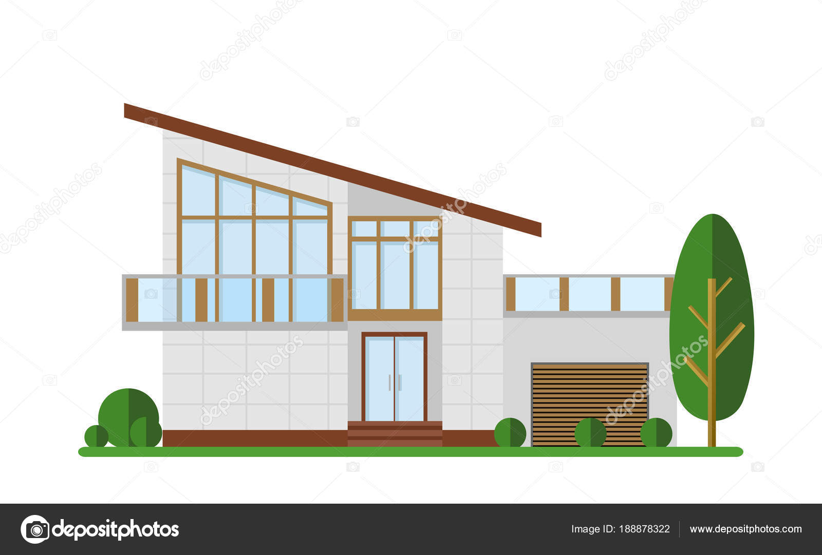 Illustration vectorielle de la maison familiale appartement moderne cottage construction chalet concept design plat illustration de stock