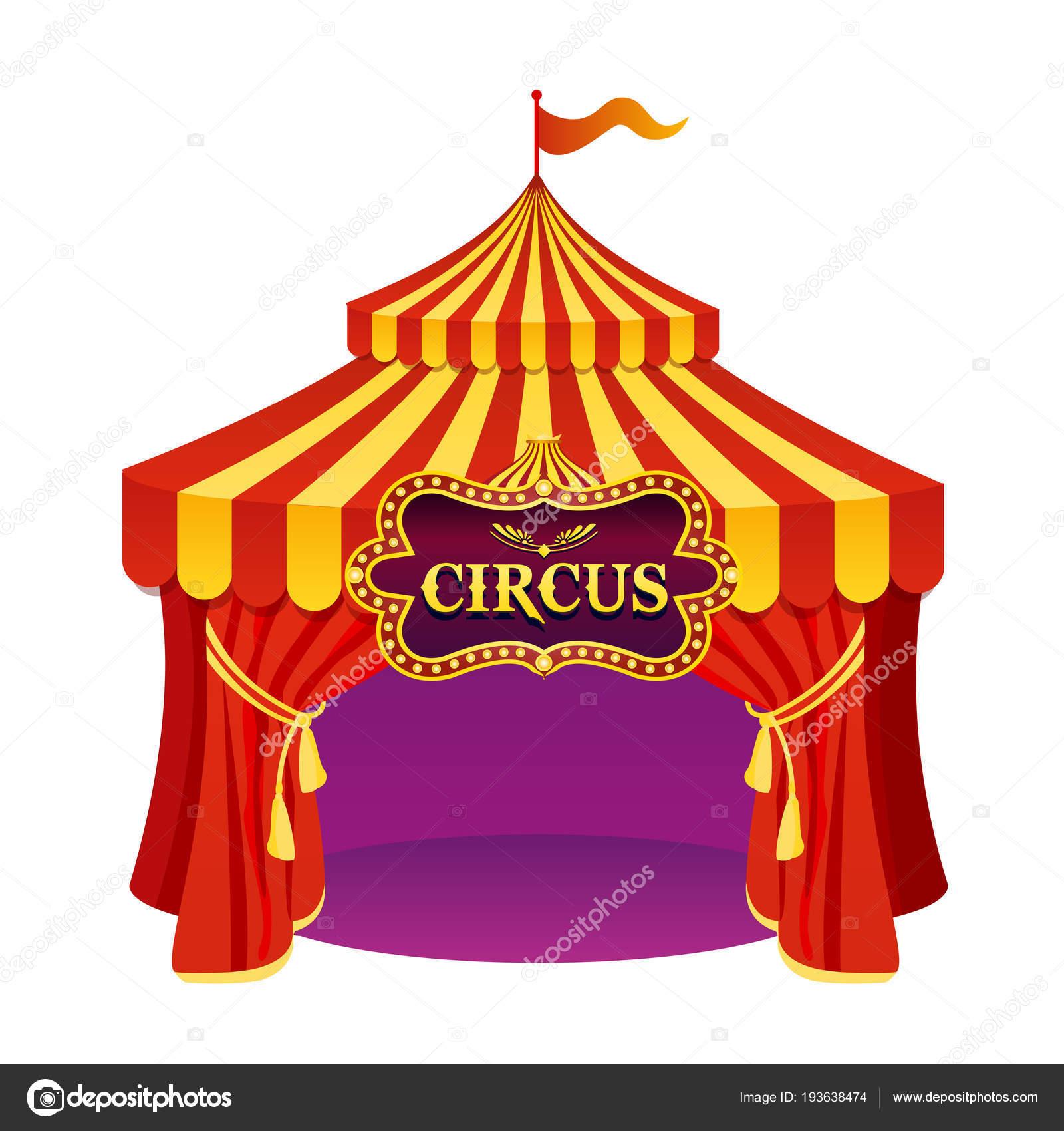 векторная иллюстрация яркие цвета цирка с красивой эмблемой
