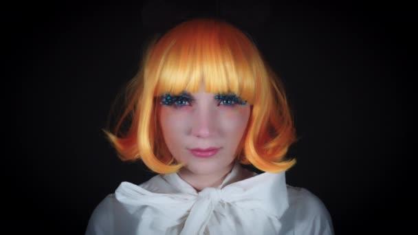 4 K Halloween Strzał Lalka Makijaż Kobieta Z Lollipop Wideo
