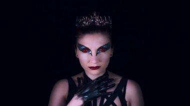 4K Halloween Horror Woman Trying to Kill herself