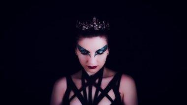 4K Halloween Horror Woman Posing With Black Hands