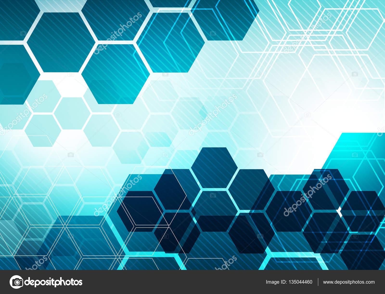 Conceito Digital Hexágono Negócios Tecnologia Plano De