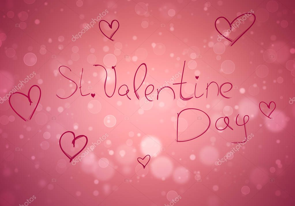 Valentines day elegant handwritten gift card background illustra