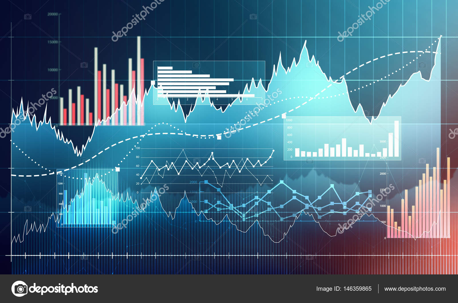 Chart with uptrend line graph bar chart and diagram in bull mar abstract business chart with uptrend line graph bar chart and diagram in bull market on dark blue background photo by evorona ccuart Choice Image