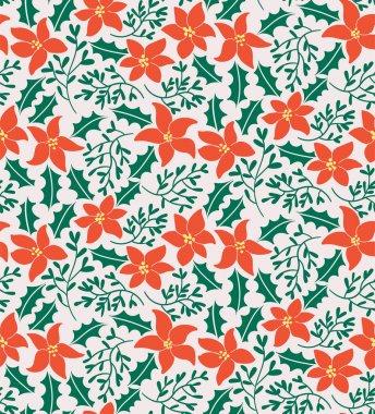 Christmas Flowers Pattern