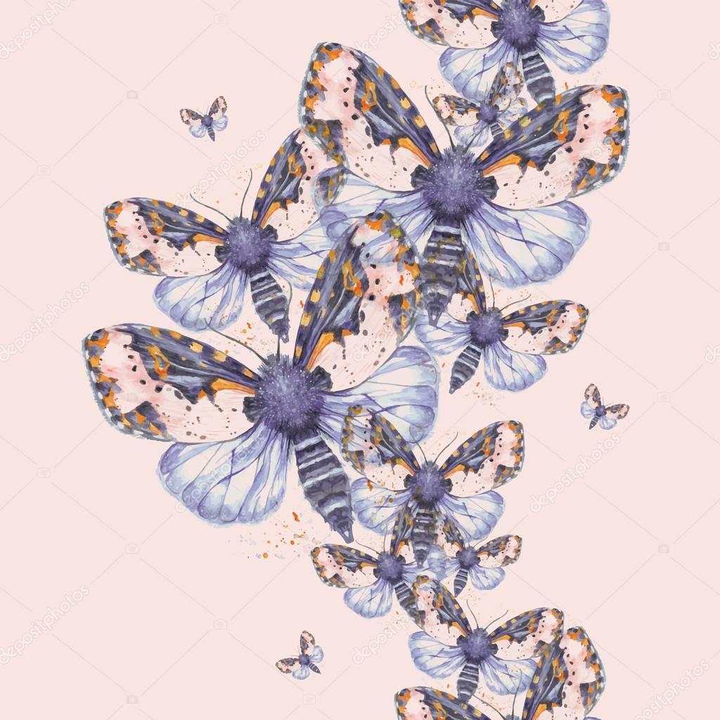 geschilderd tekening aquarel shaggy vlinder teddybeer