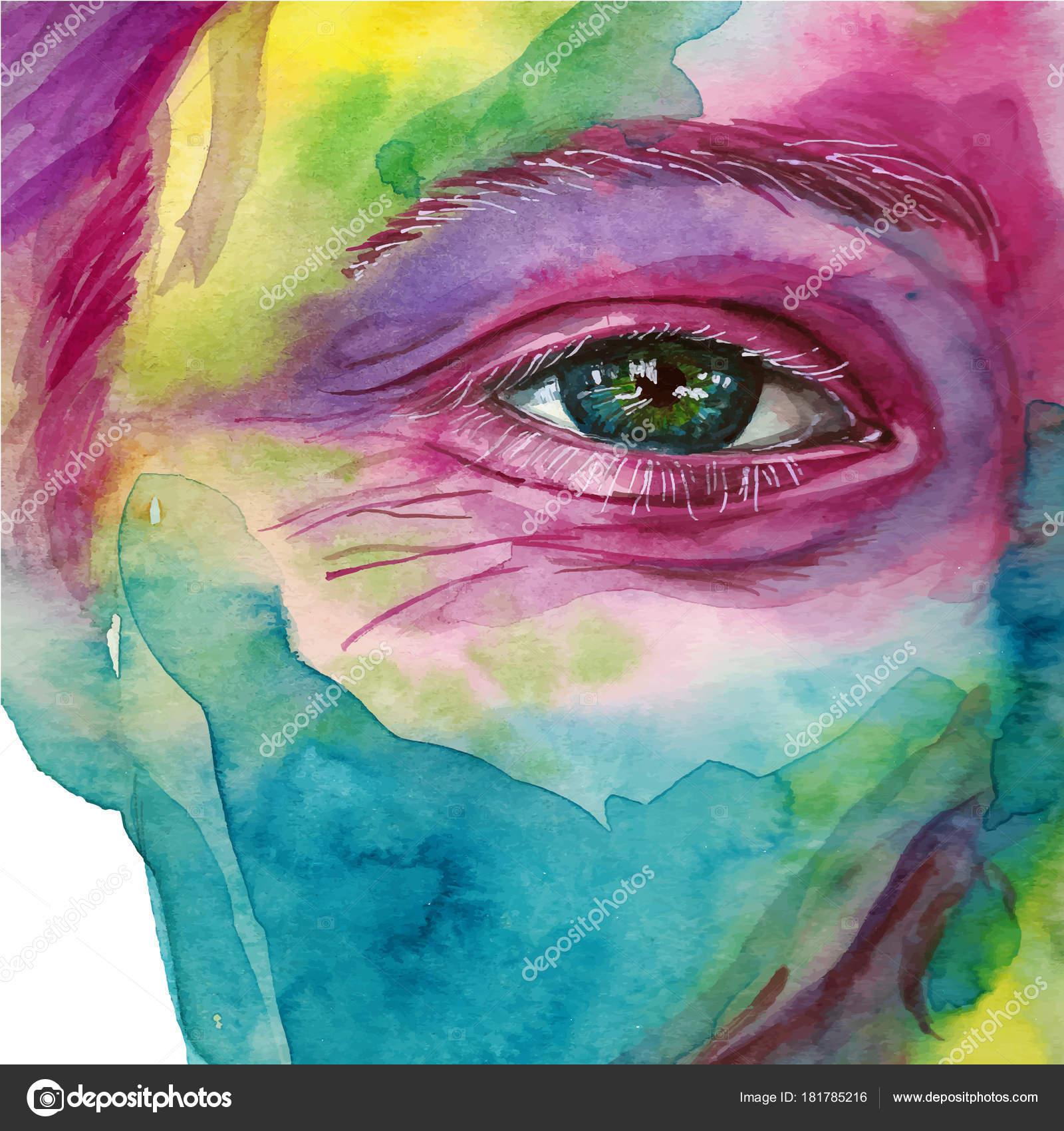 Imágenes Ojos De Hombres Para Dibujar Acuarela Dibujo Cabeza