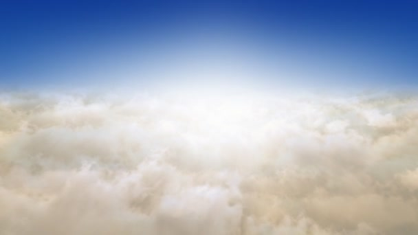 Letí Clouds.Sunrise. Looop