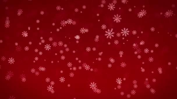Krásné sněhové vločky - zimní pozadí. Bezešvá smyčka