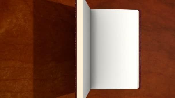 Nyitó könyv, fehér oldalak, berreg belül