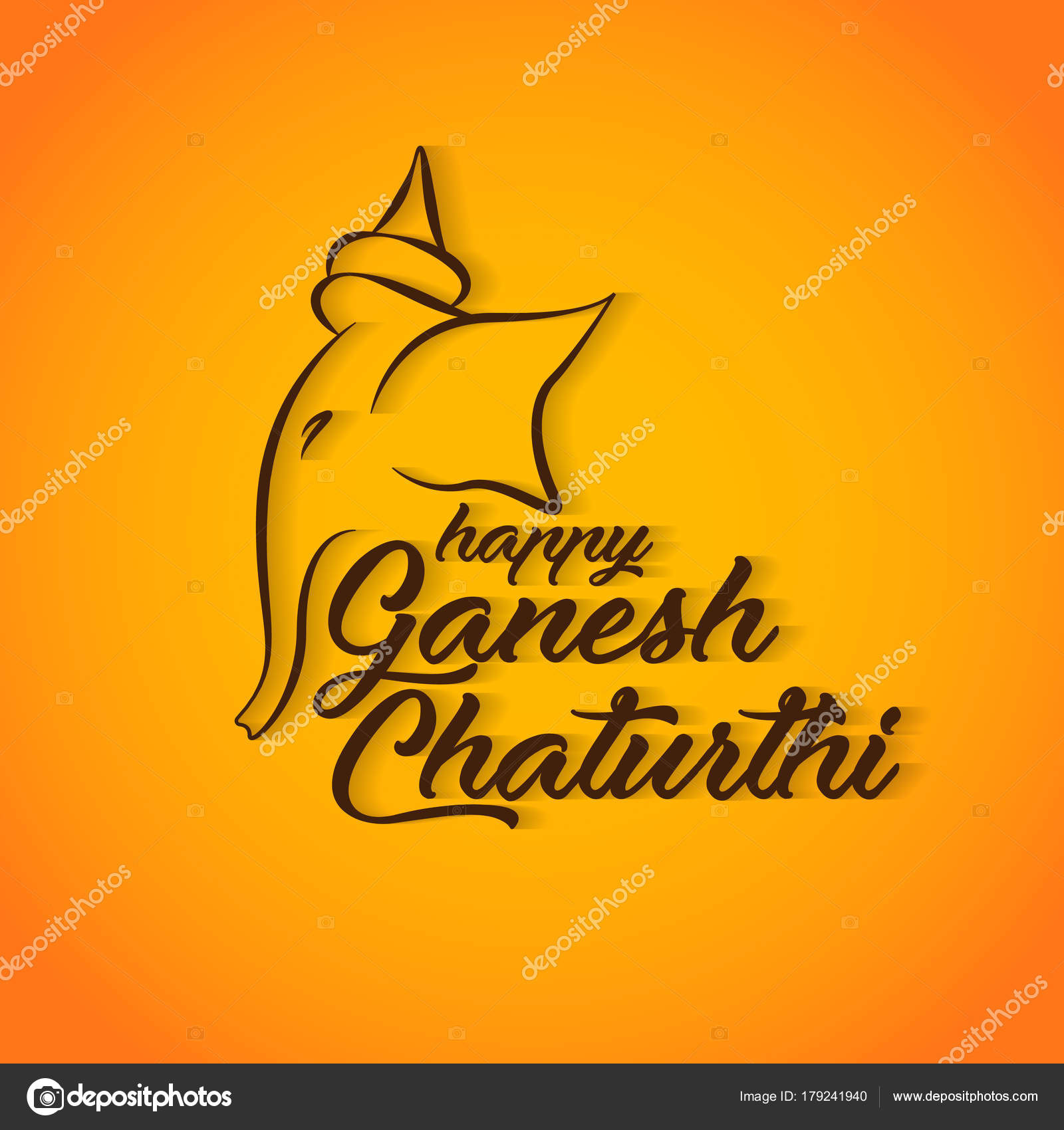 Happy ganesh chaturthi greeting card design stock vector happy ganesh chaturthi greeting card design stock vector m4hsunfo