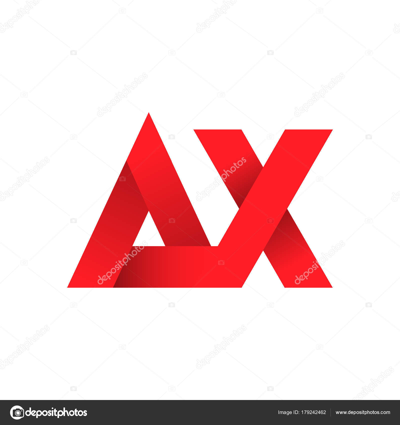 eec13e62a6512 Carta abstracta idea de diseño de logotipo Ax — Vector de stock ...