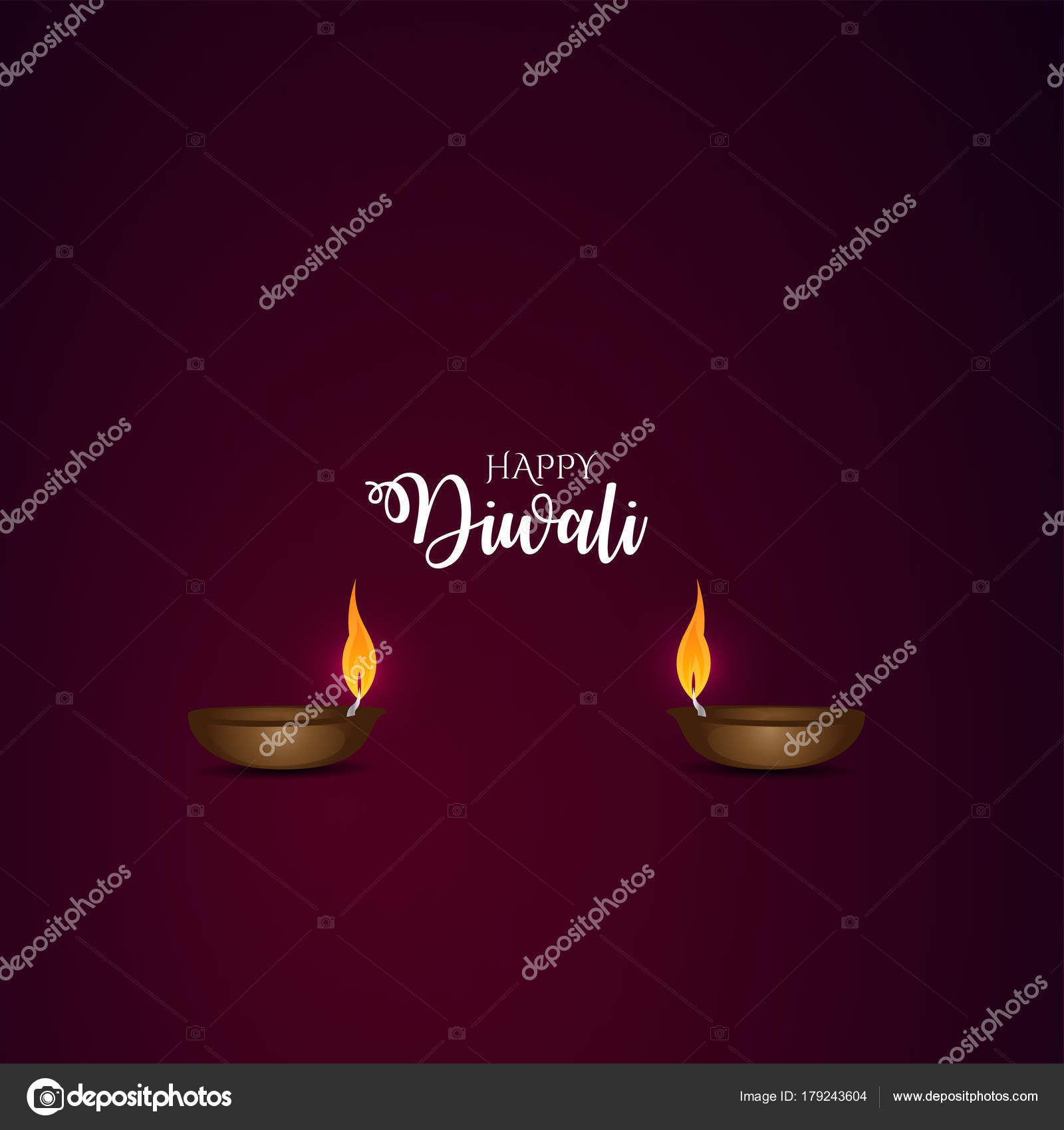Happy Diwali Greeting Card Background Design Idea Stock Vector