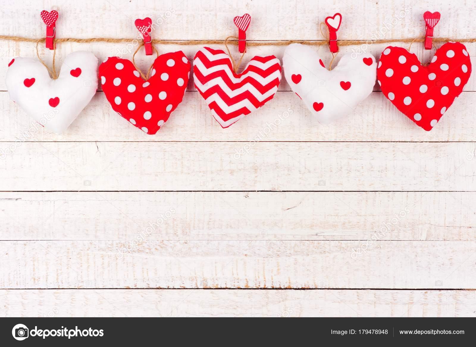Walentynki Ręcznie Robione Wzorzyste Tkaniny Poduszki Serca Wiszące