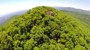 Aerial shenandoah valley blue ridge mountains