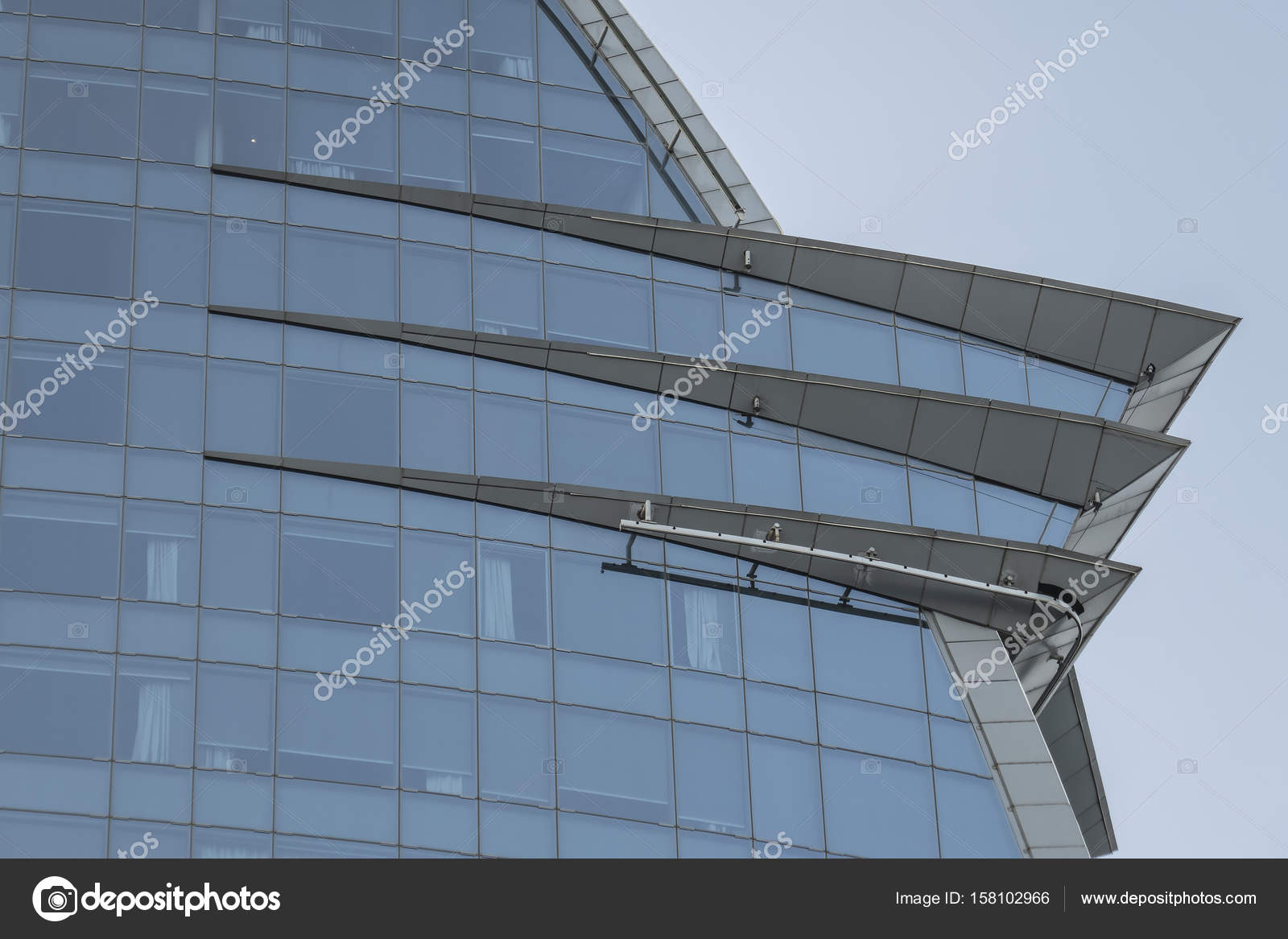Glass building in Barcelona detail — Stock Photo © nachrc2001@gmail ...