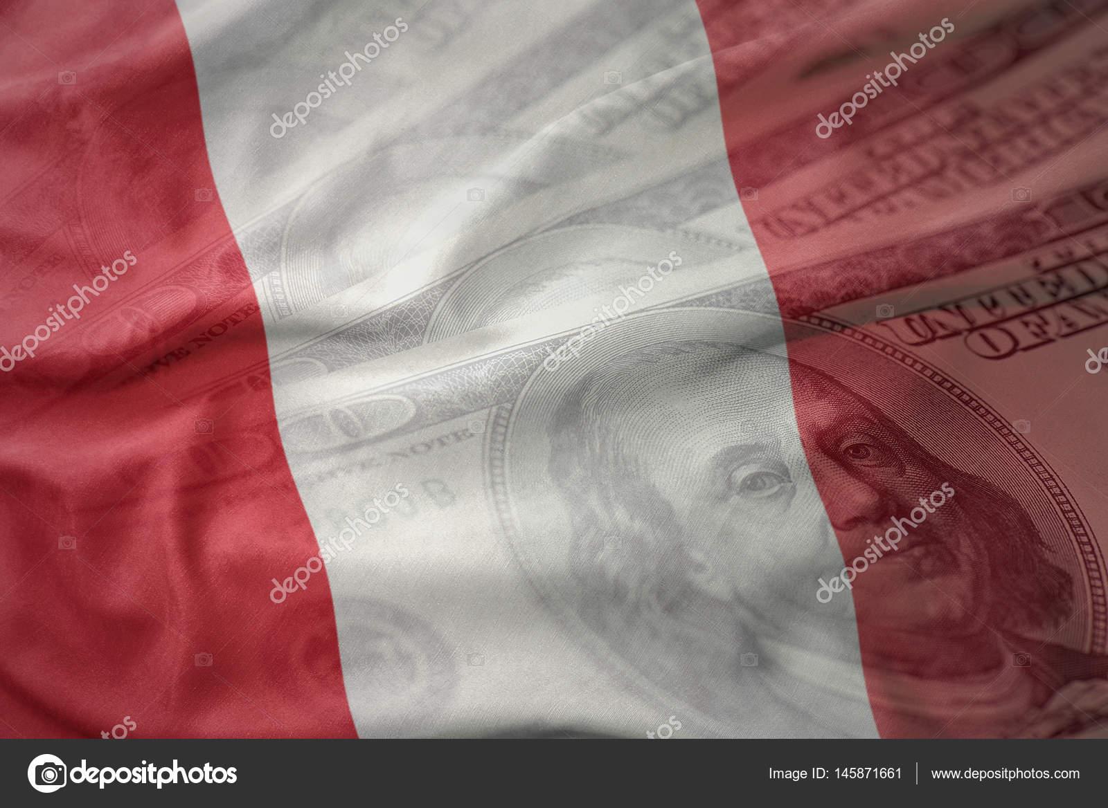 Bunt nationalflagge von peru auf amerikanische dollar geld bunt nationalflagge von peru auf amerikanische dollar geld hintergrund winken finanzen konzept foto von ruletkka thecheapjerseys Images