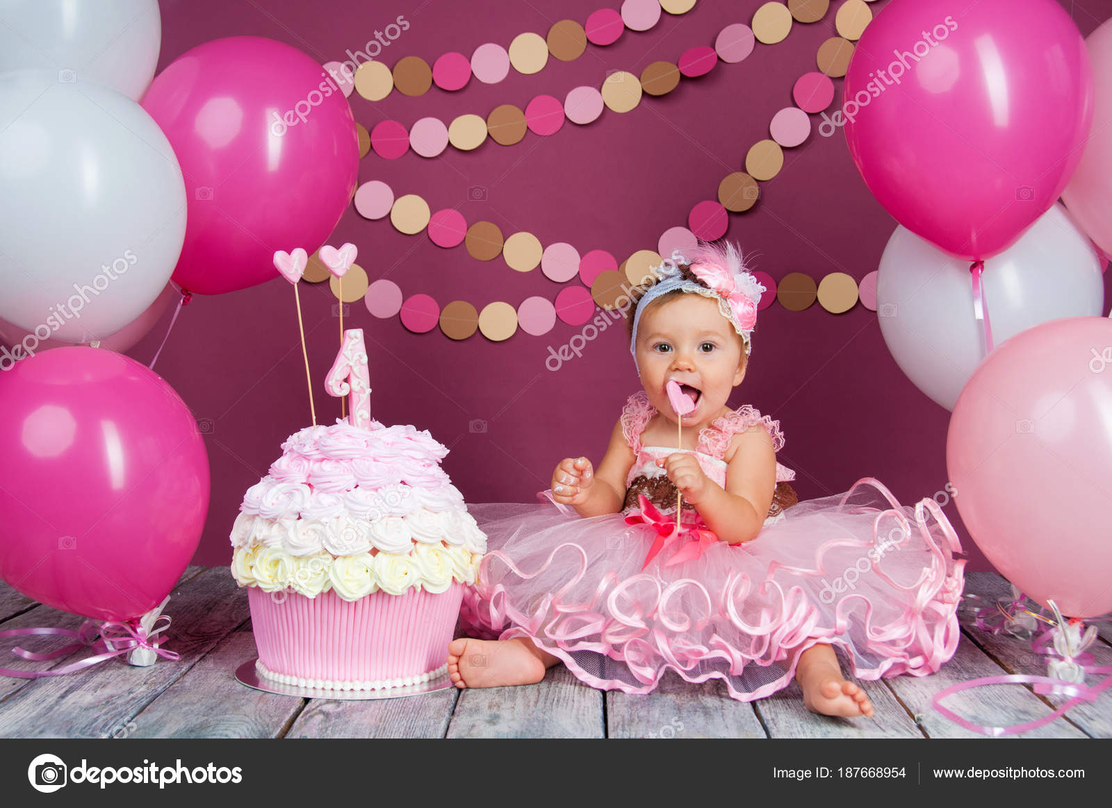 the little girl s birthday girl was smeared into a cake the first